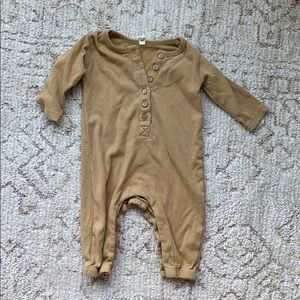 Quincy Mae Mustard Playsuit